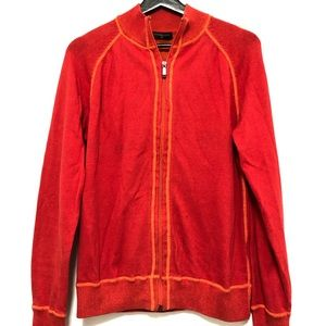 Red man's small cotton cardigan